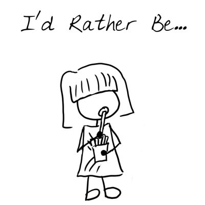 048 - I'd rather be - square